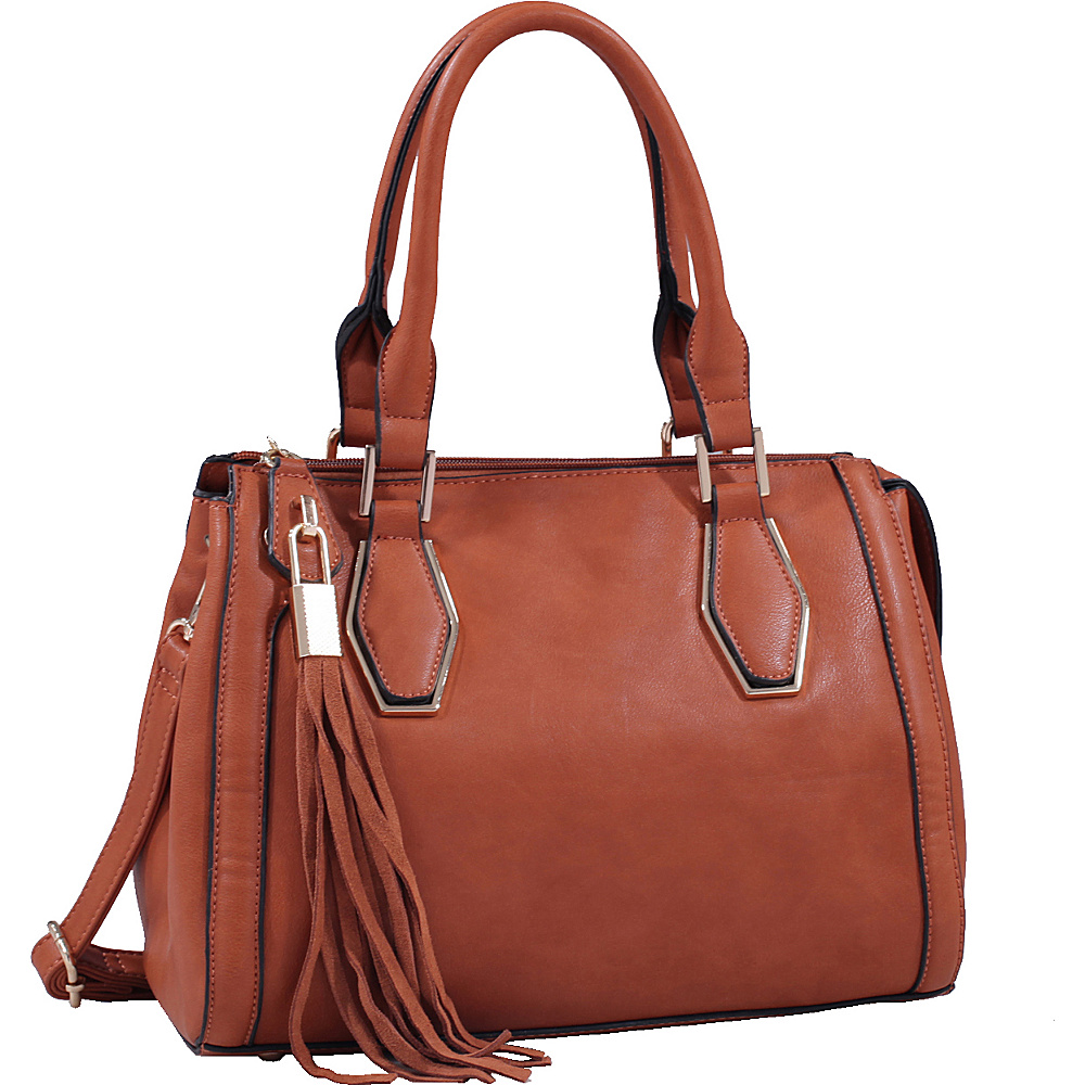 MKF Collection by Mia K. Farrow Nora Satchel Brown - MKF Collection by Mia K. Farrow Manmade Handbags - Handbags, Manmade Handbags