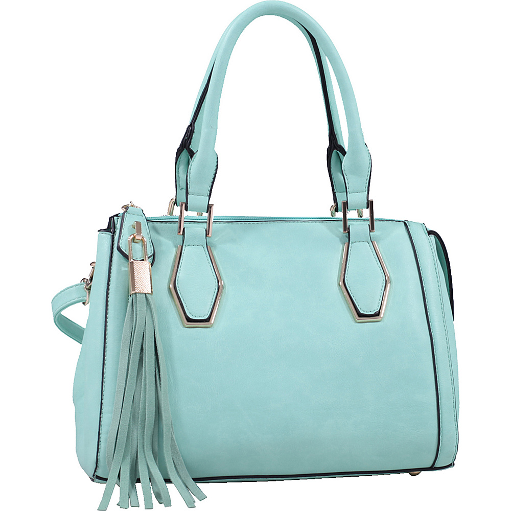 MKF Collection by Mia K. Farrow Nora Satchel Light Green - MKF Collection by Mia K. Farrow Manmade Handbags - Handbags, Manmade Handbags