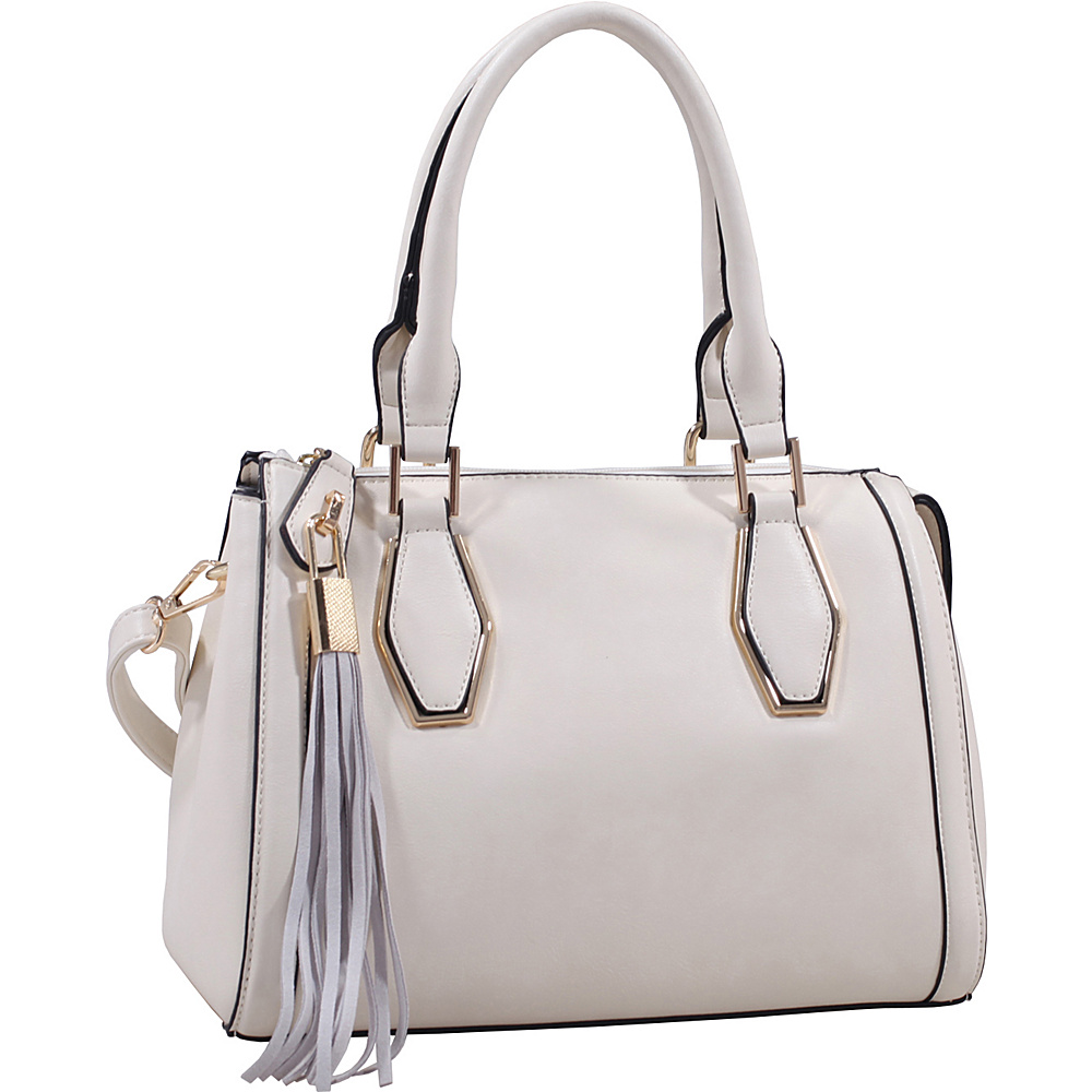 MKF Collection by Mia K. Farrow Nora Satchel Off White - MKF Collection by Mia K. Farrow Manmade Handbags - Handbags, Manmade Handbags
