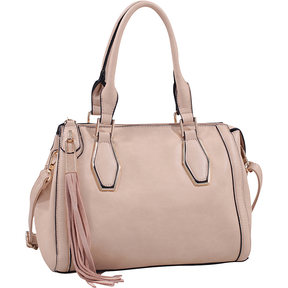 MKF Collection by Mia K. Farrow Nora Satchel Taupe - MKF Collection by Mia K. Farrow Manmade Handbags - Handbags, Manmade Handbags