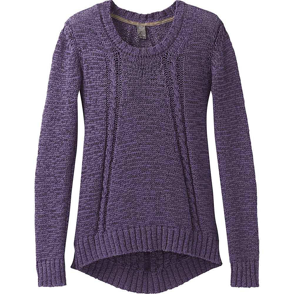 PrAna Monique Sweater L - Purple Mountain - PrAna Womens Apparel - Apparel & Footwear, Women's Apparel