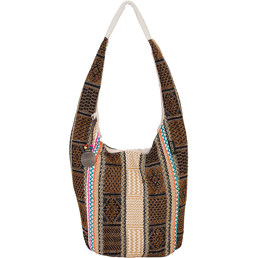Sun N Sand Zila Hobo Brown - Sun N Sand Fabric Handbags - Handbags, Fabric Handbags