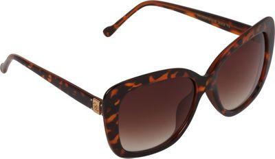 Jessica Simpson Sunwear Oversized Cat Eye Sunglasses Tortoise - Jessica Simpson Sunwear Eyewear