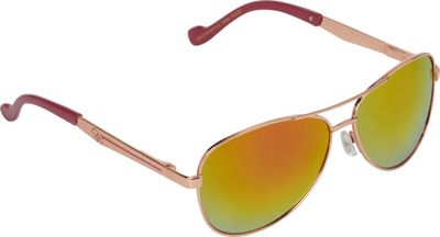 Jessica Simpson Sunwear Aviator Sunglasses Rose Gold Berry - Jessica Simpson Sunwear Eyewear