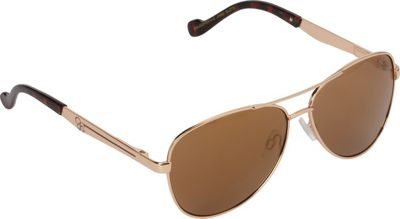 Jessica Simpson Sunwear Aviator Sunglasses Gold Tortoise - Jessica Simpson Sunwear Eyewear