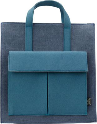 Mad Rabbit Kicking Tiger Crawford Tote Skyscraper Blue - Mad Rabbit Kicking Tiger Non-Wheeled Business Cases