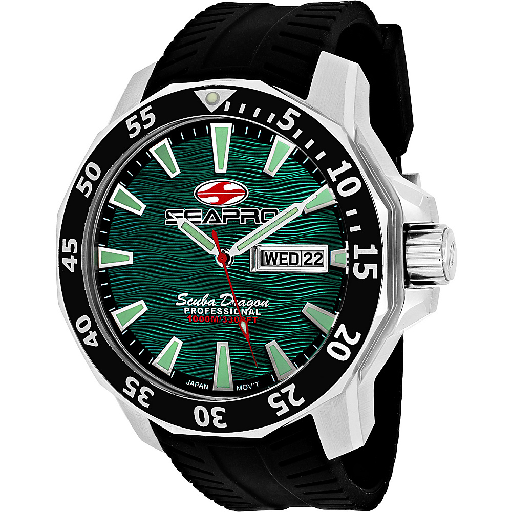 Seapro Watches Men s Scuba Dragon Diver Limited Edition 1000 Me Watch Green Seapro Watches Watches