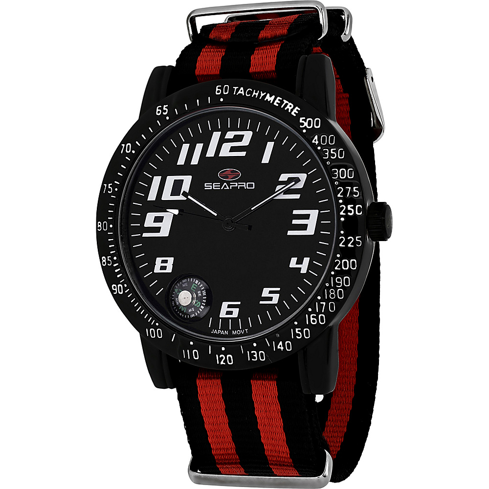 Seapro Watches Men s Raceway Watch Black Seapro Watches Watches