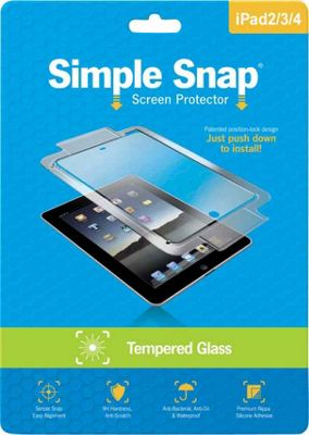 Simple Snap Screen Protector for iPad 2/3/4 Tempered Glass Transparent - Simple Snap Electronic Accessories