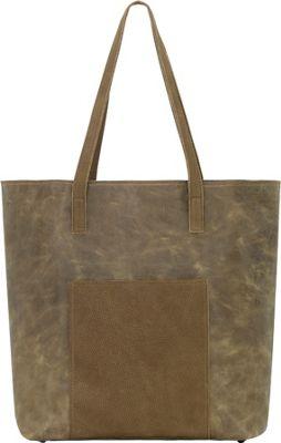 TrueLu The Olivia Tote Olive - TrueLu Leather Handbags