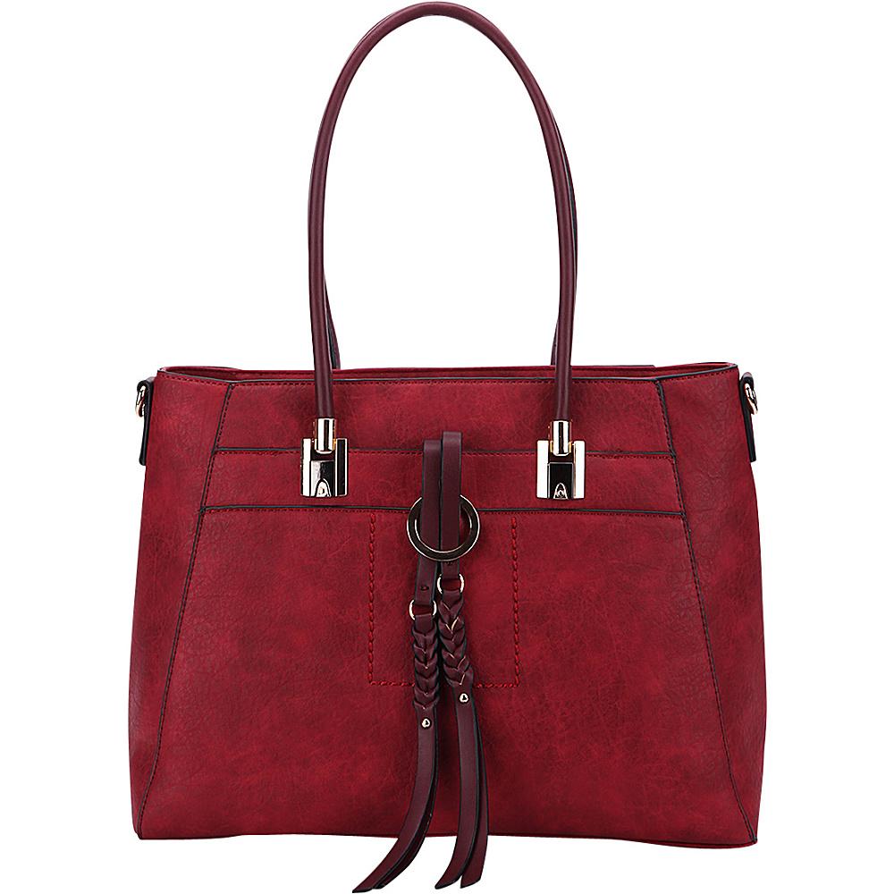 MKF Collection by Mia K. Farrow Jacksonville Tote Burgundy - MKF Collection by Mia K. Farrow Manmade Handbags - Handbags, Manmade Handbags