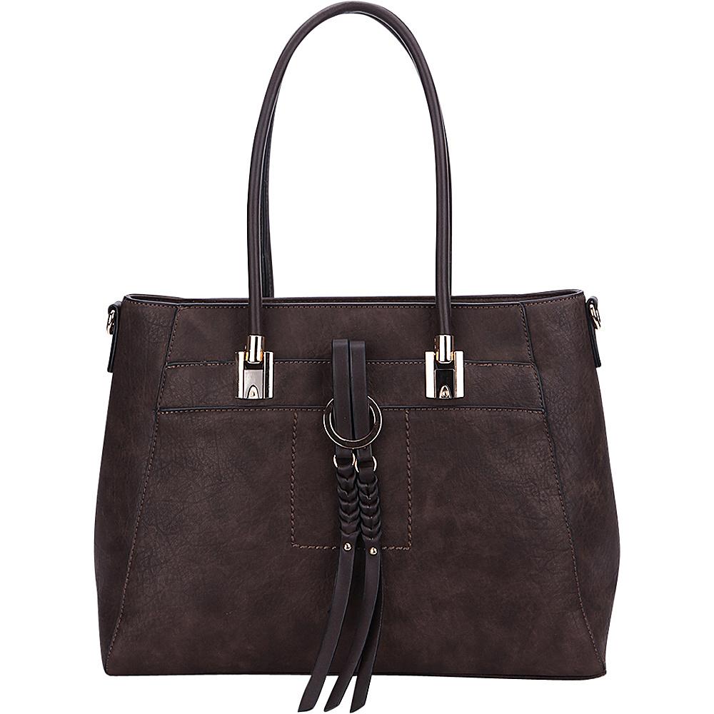 MKF Collection by Mia K. Farrow Jacksonville Tote Coffee - MKF Collection by Mia K. Farrow Manmade Handbags - Handbags, Manmade Handbags