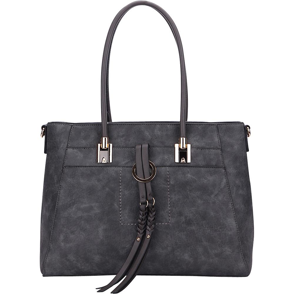 MKF Collection by Mia K. Farrow Jacksonville Tote Dark Grey - MKF Collection by Mia K. Farrow Manmade Handbags - Handbags, Manmade Handbags