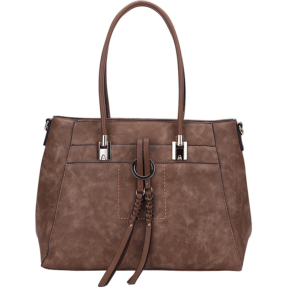 MKF Collection by Mia K. Farrow Jacksonville Tote Khaki - MKF Collection by Mia K. Farrow Manmade Handbags - Handbags, Manmade Handbags