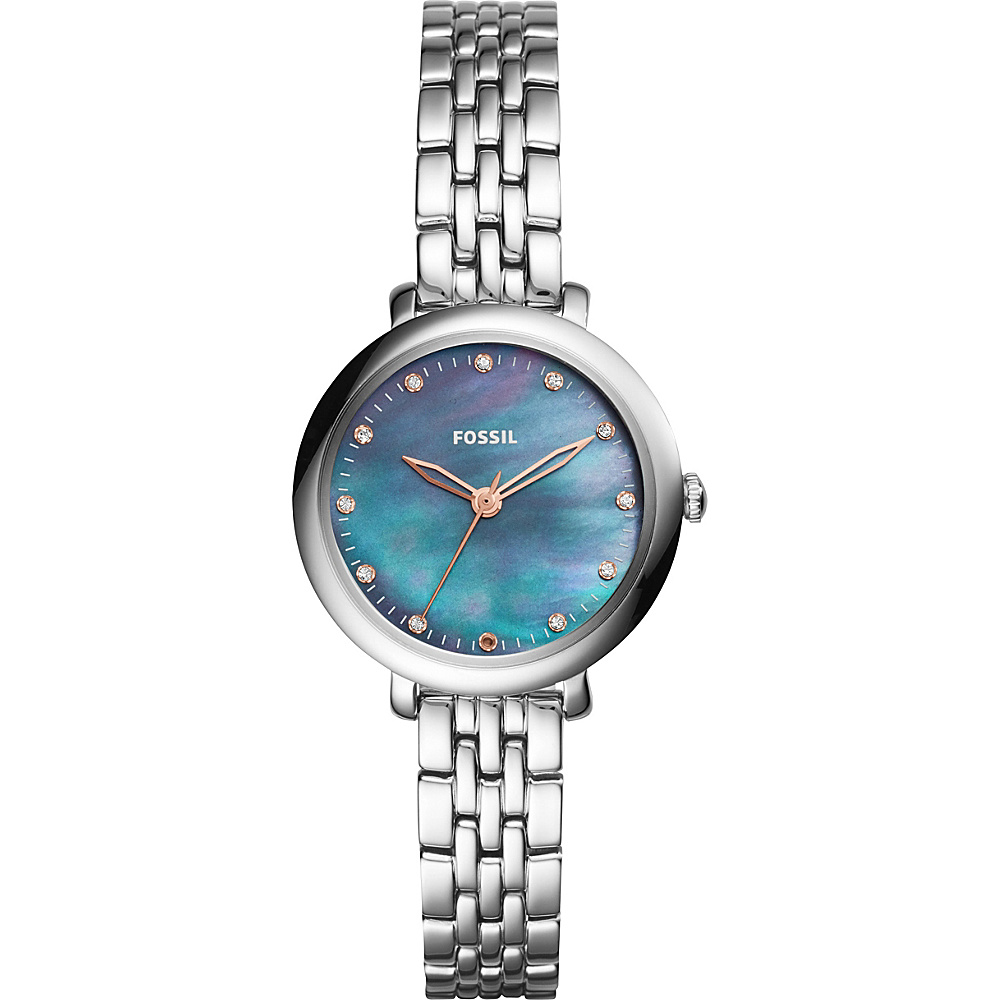 Fossil Jacqueline Three-Hand Watch Silver - Fossil Watches - Fashion Accessories, Watches