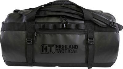 Highland Tactical 26 inch Vendetta Water-Resistant Backpack Duffel Bag Black - Highland Tactical Travel Duffels
