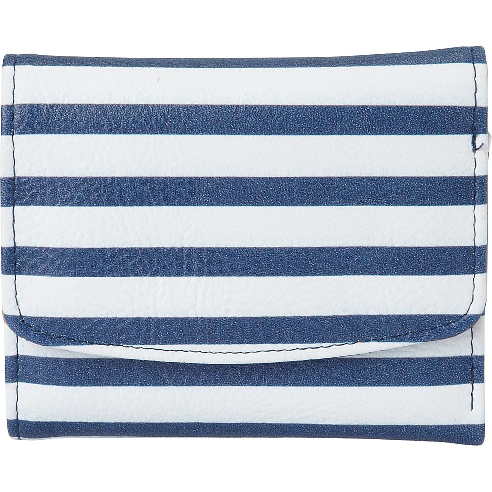 Buxton Americana Pik-Me-Up Mini-Trifold Blue Stripe - Buxton Womens Wallets - Women's SLG, Women's Wallets