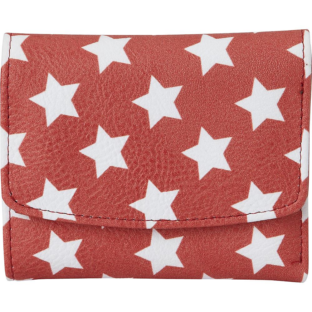 Buxton Americana Pik-Me-Up Mini-Trifold Red Star - Buxton Womens Wallets - Women's SLG, Women's Wallets