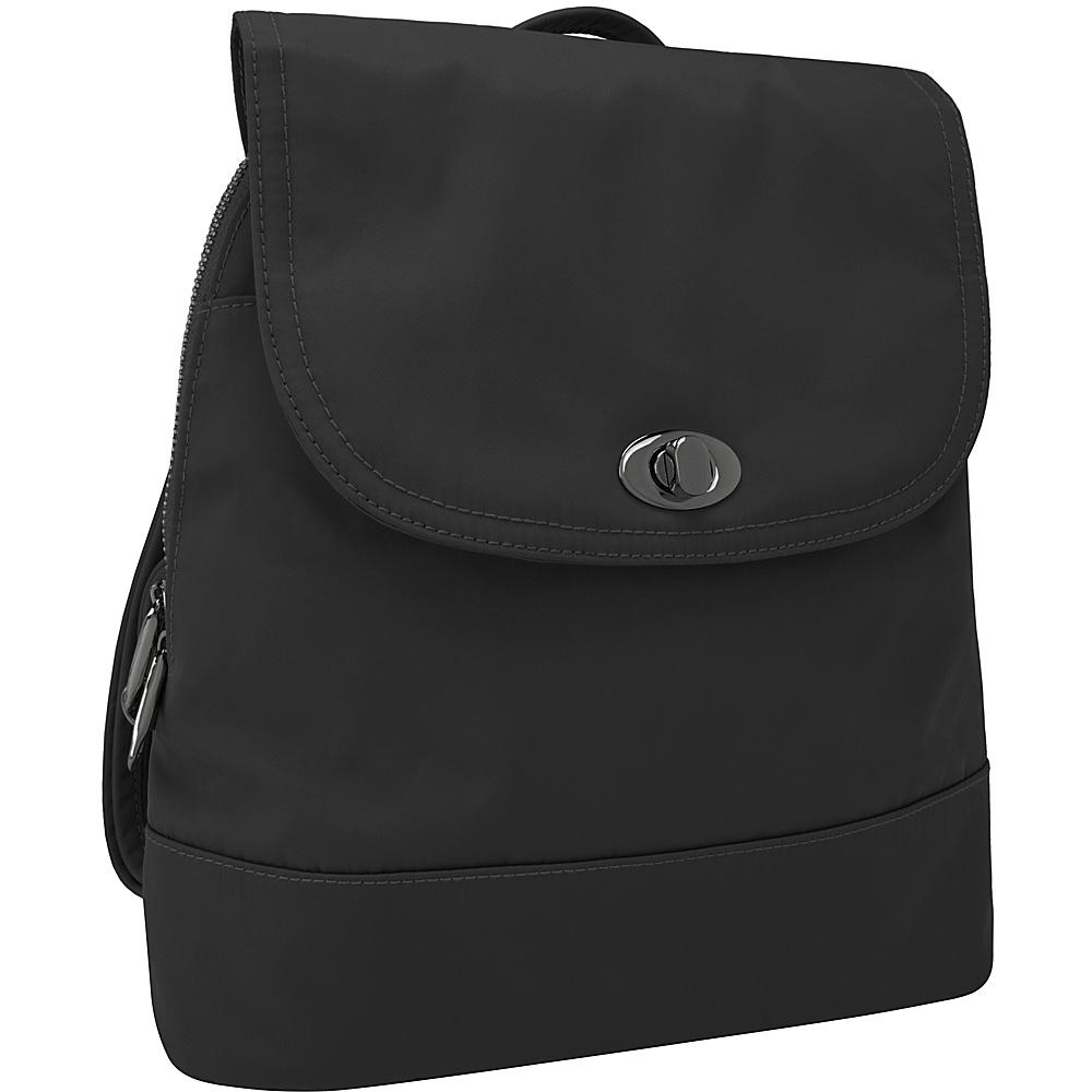 Travelon Anti-Theft Tailored Backpack Onxy/Royal Purple Interior - Travelon Leather Handbags - Handbags, Leather Handbags
