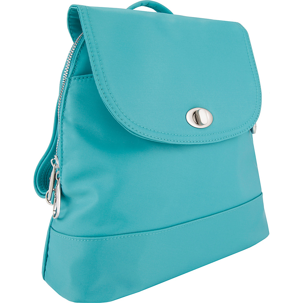Travelon Anti-Theft Tailored Backpack Aquamarine - Travelon Fabric Handbags - Handbags, Fabric Handbags