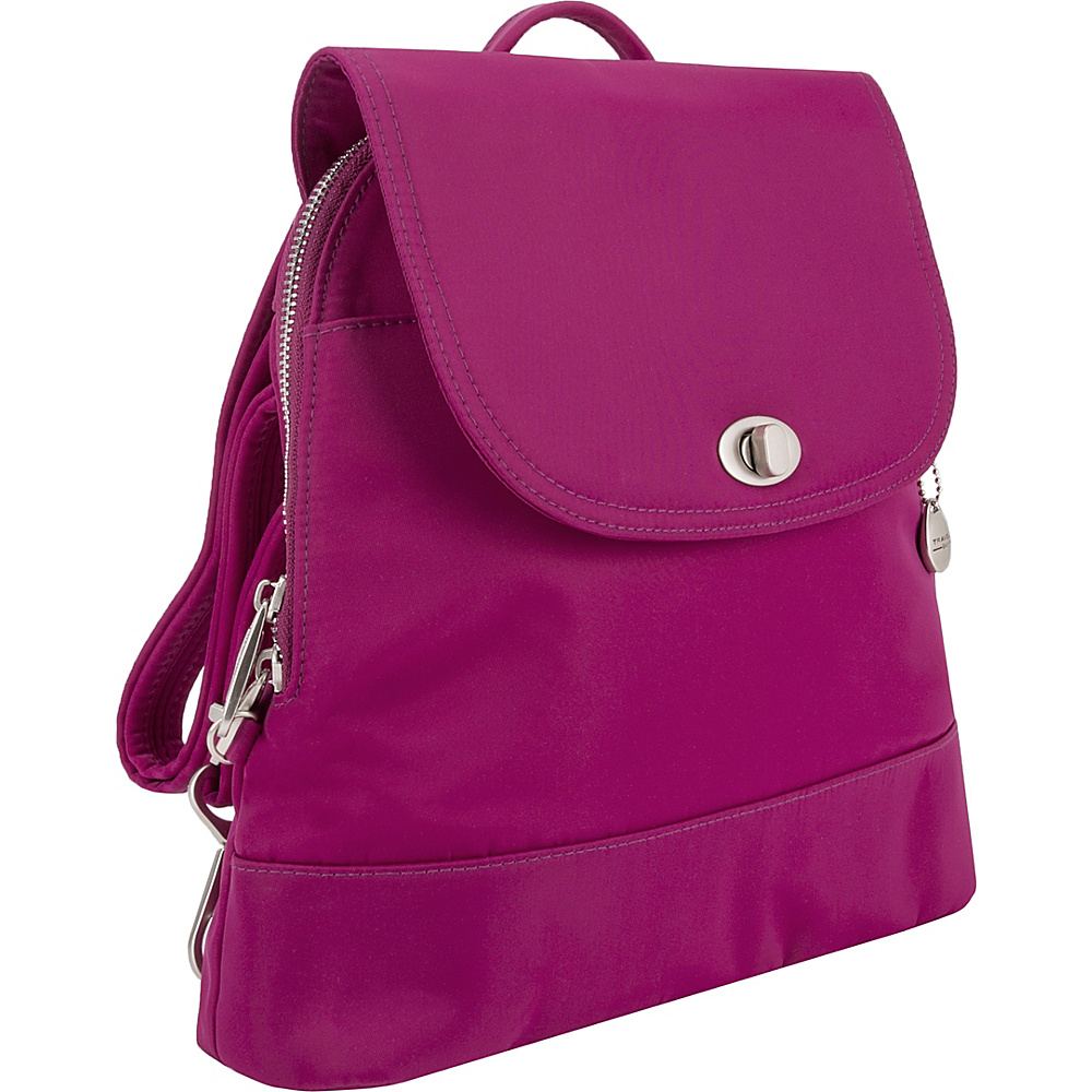 Travelon Anti-Theft Tailored Backpack Plumrose - Travelon Fabric Handbags - Handbags, Fabric Handbags