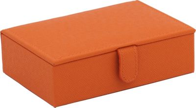 WOLF Brighton Travel Jewelry Box Orange - WOLF Packing Aids