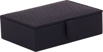 WOLF Brighton Travel Jewelry Box Black - WOLF Packing Aids