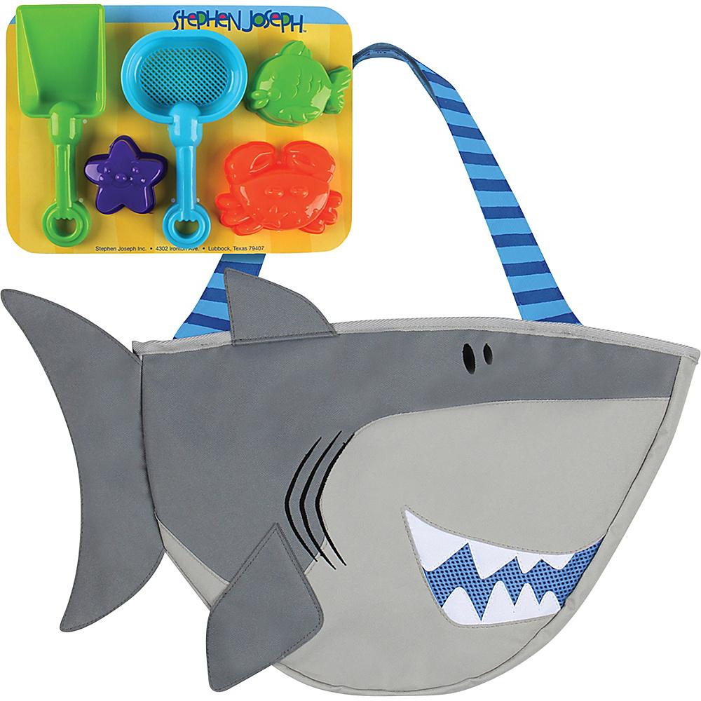 Stephen Joseph Beach Tote with Sand Toys Shark - Stephen Joseph Manmade Handbags - Handbags, Manmade Handbags