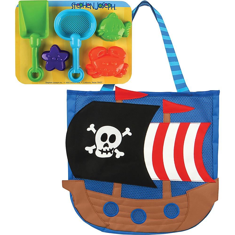 Stephen Joseph Beach Tote with Sand Toys Pirate - Stephen Joseph Manmade Handbags - Handbags, Manmade Handbags