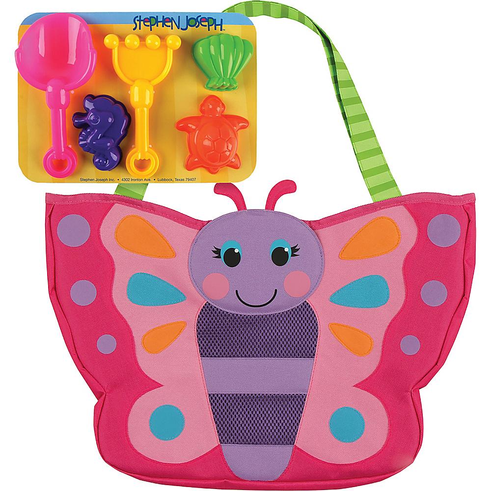 Stephen Joseph Beach Tote with Sand Toys Butterfly - Stephen Joseph Manmade Handbags - Handbags, Manmade Handbags