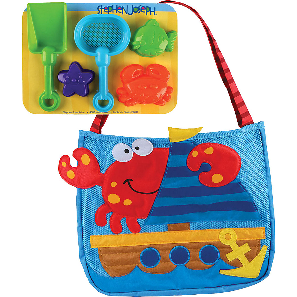Stephen Joseph Beach Tote with Sand Toys Crab - Stephen Joseph Manmade Handbags - Handbags, Manmade Handbags