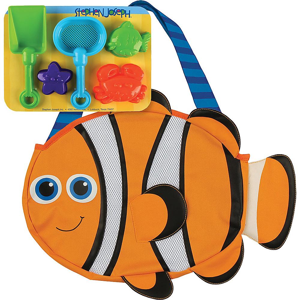 Stephen Joseph Beach Tote with Sand Toys Clownfish - Stephen Joseph Manmade Handbags - Handbags, Manmade Handbags