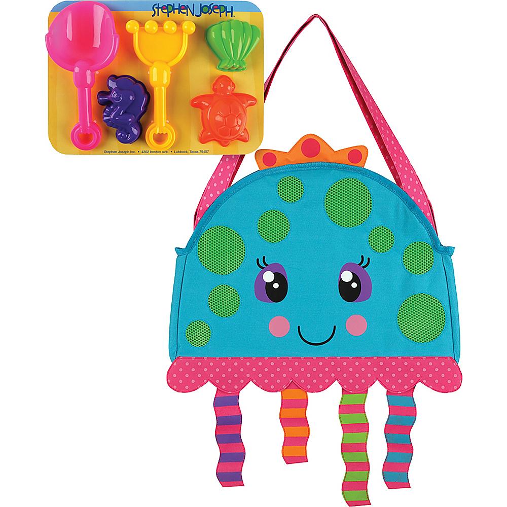 Stephen Joseph Beach Tote with Sand Toys Jellyfish - Stephen Joseph Manmade Handbags - Handbags, Manmade Handbags