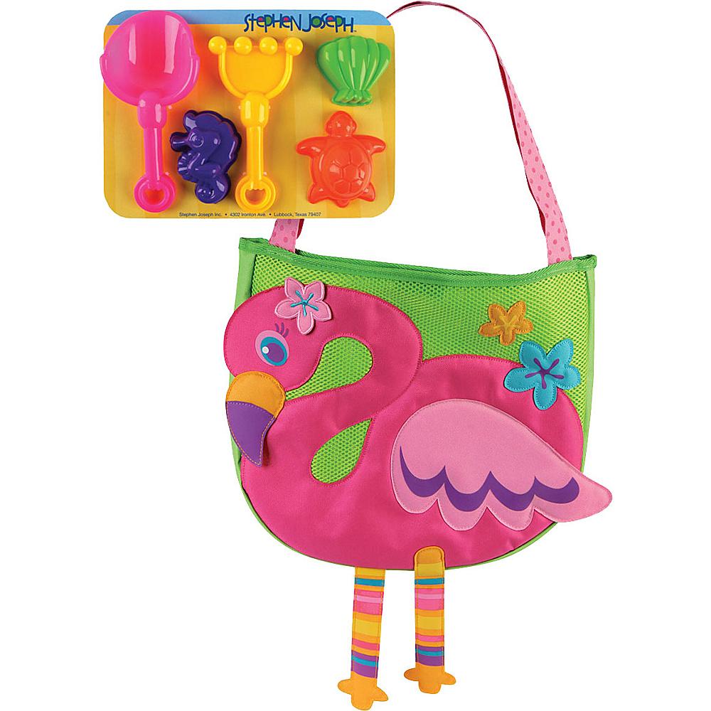 Stephen Joseph Beach Tote with Sand Toys Flamingo - Stephen Joseph Manmade Handbags - Handbags, Manmade Handbags