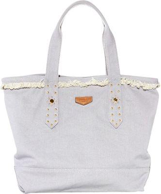 Aimee Kestenberg Handbags Cannes Tote Dove Grey - Aimee Kestenberg Handbags Fabric Handbags