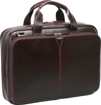 Johnston & Murphy Laptop Briefcase Brown - Johnston & Murphy Non-Wheeled Business Cases 10548420