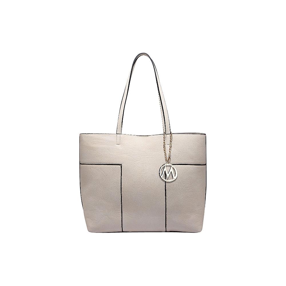 MKF Collection by Mia K. Farrow Sadie Tote Bag Beige - MKF Collection by Mia K. Farrow Manmade Handbags - Handbags, Manmade Handbags