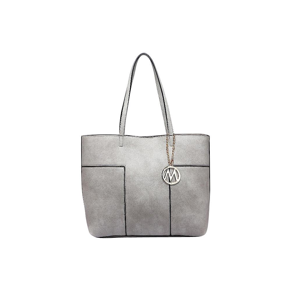 MKF Collection by Mia K. Farrow Sadie Tote Bag Grey - MKF Collection by Mia K. Farrow Manmade Handbags - Handbags, Manmade Handbags