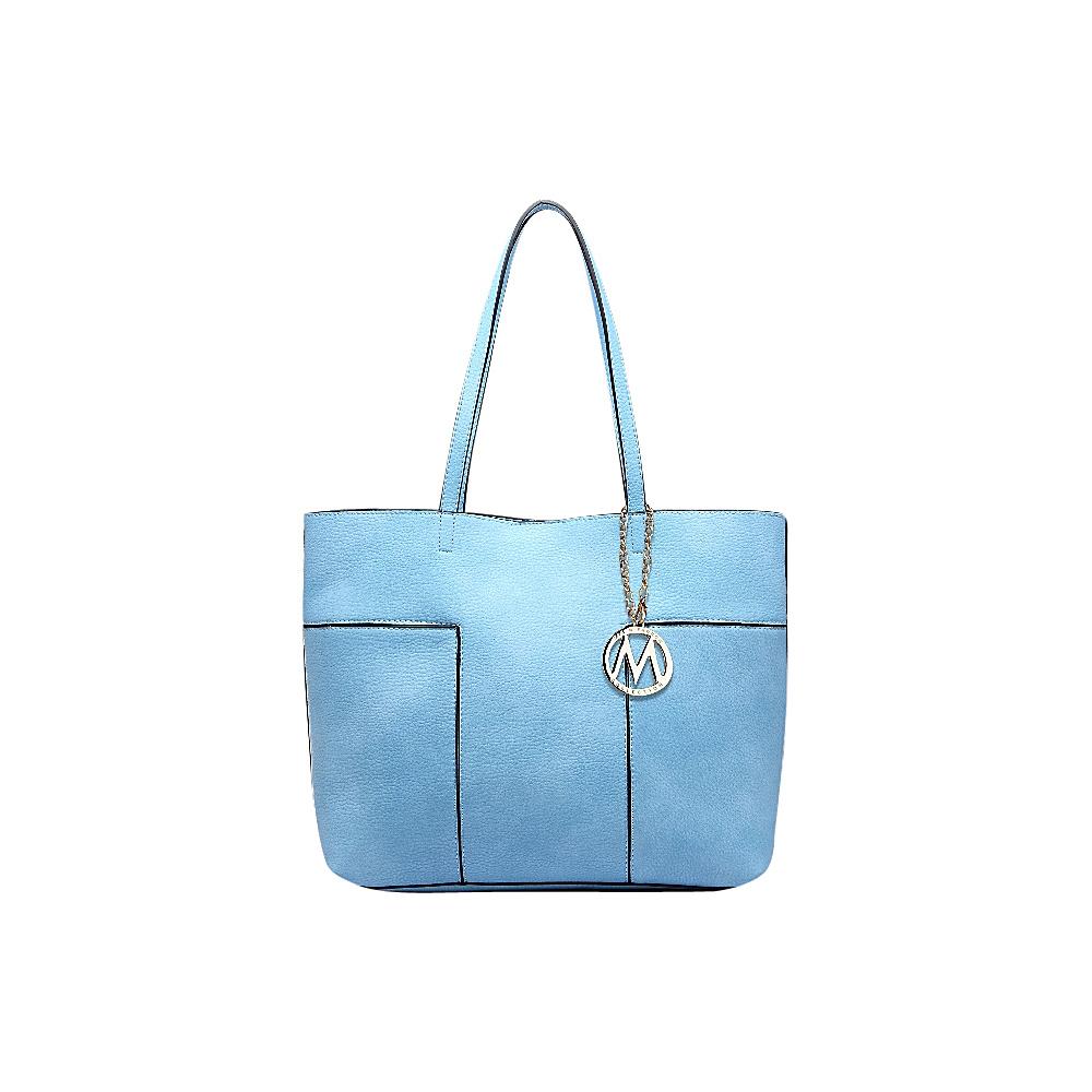 MKF Collection by Mia K. Farrow Sadie Tote Bag Light Blue - MKF Collection by Mia K. Farrow Manmade Handbags - Handbags, Manmade Handbags