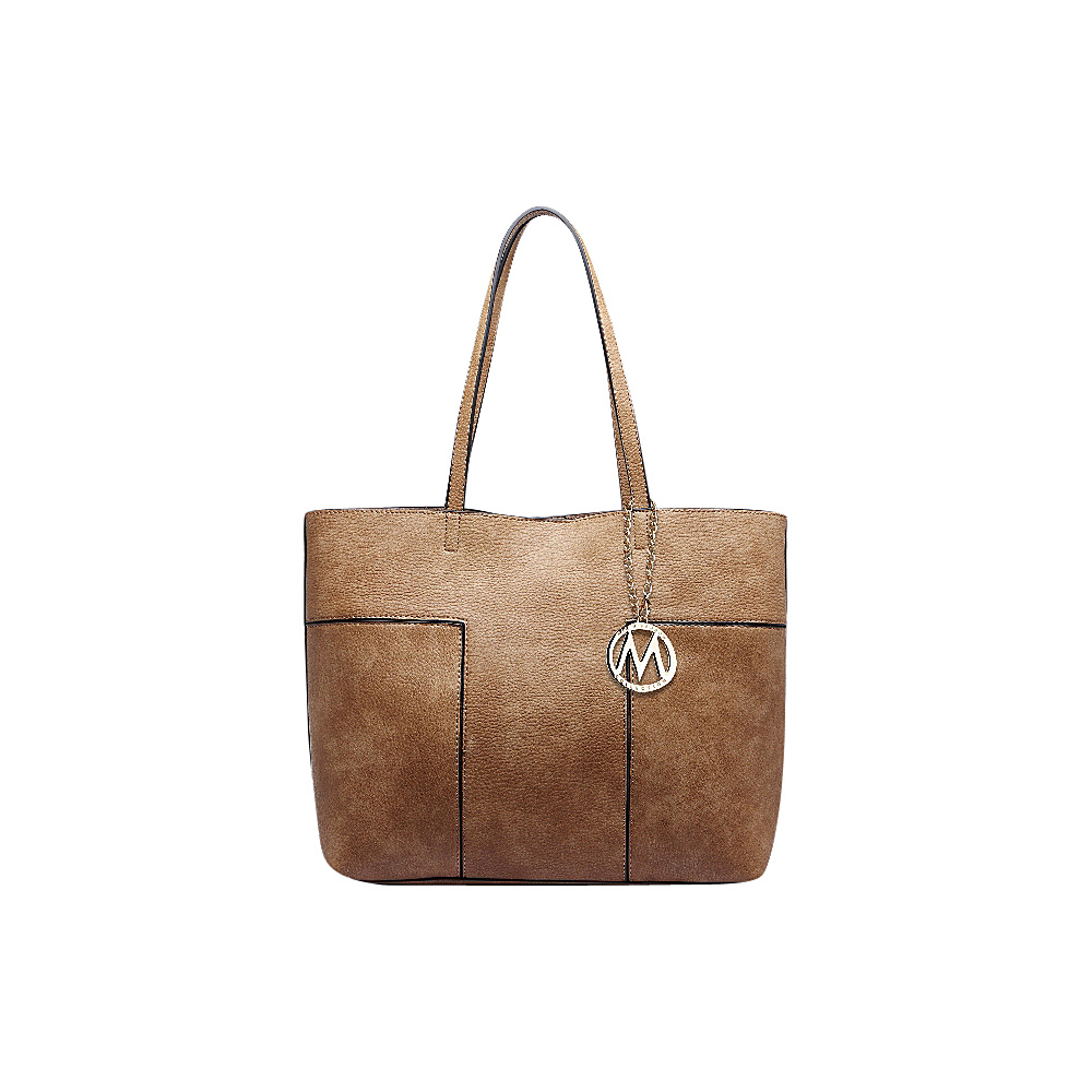 MKF Collection by Mia K. Farrow Sadie Tote Bag Taupe - MKF Collection by Mia K. Farrow Manmade Handbags - Handbags, Manmade Handbags