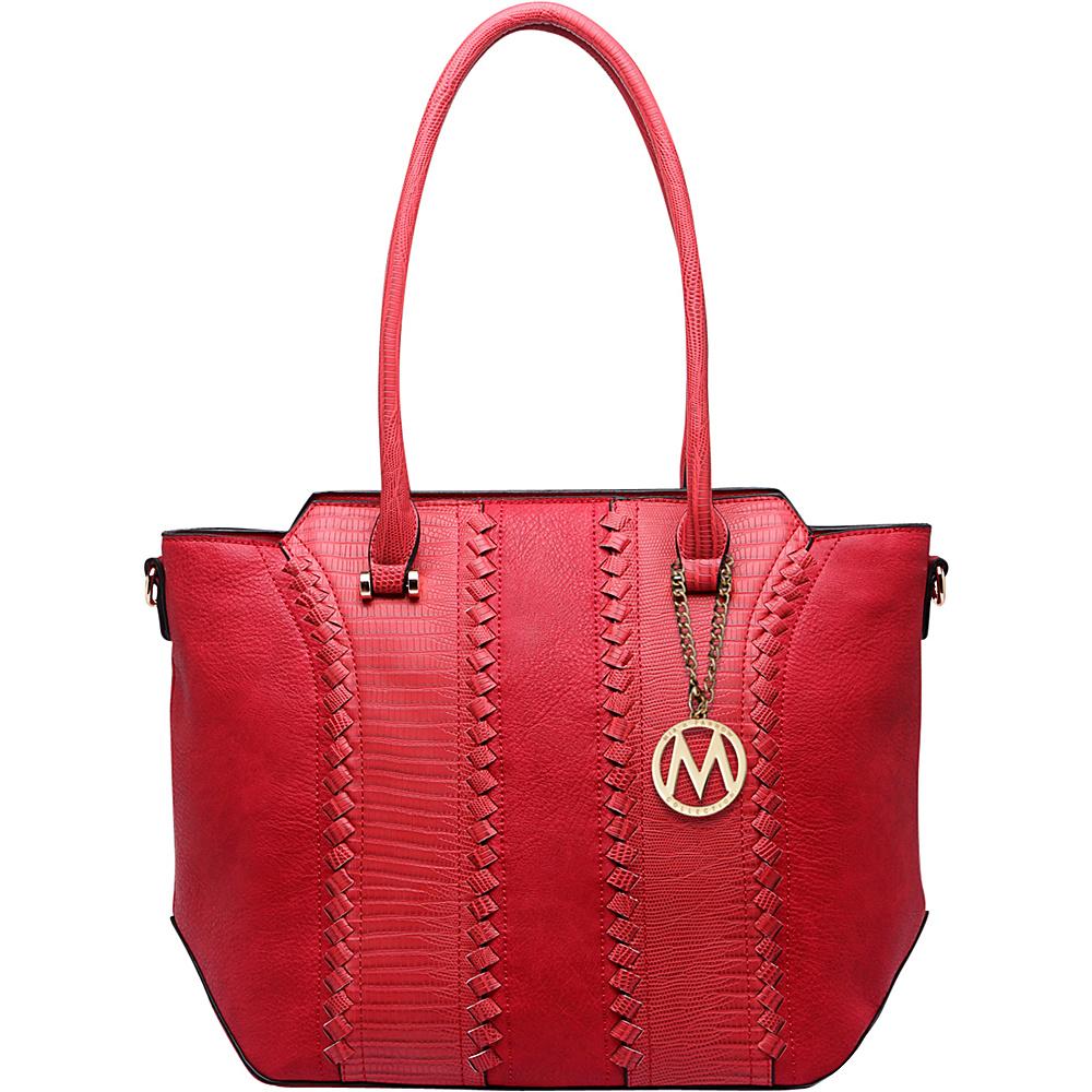 MKF Collection by Mia K. Farrow Pasadena Tote Bag Red - MKF Collection by Mia K. Farrow Manmade Handbags - Handbags, Manmade Handbags