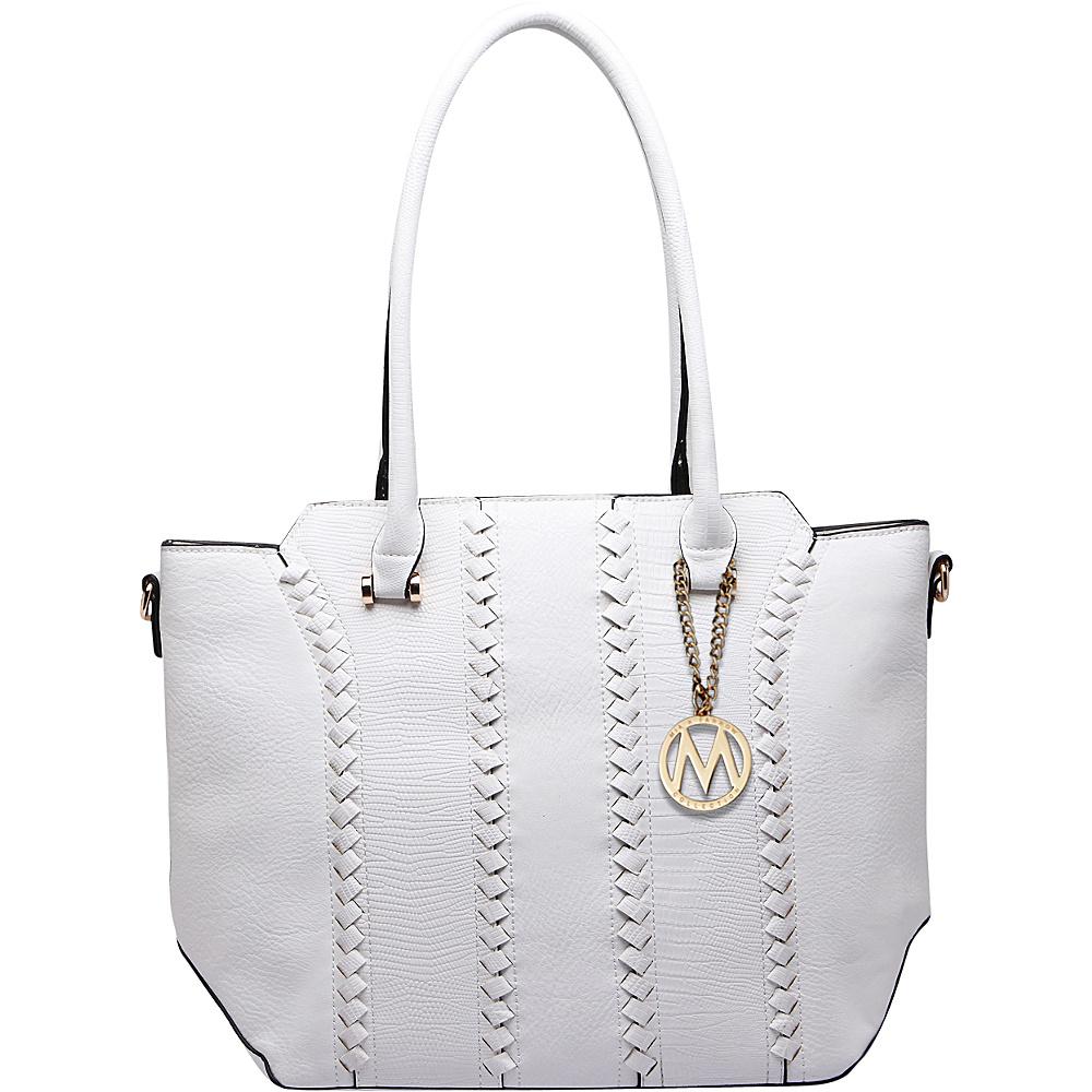 MKF Collection by Mia K. Farrow Pasadena Tote Bag White - MKF Collection by Mia K. Farrow Manmade Handbags - Handbags, Manmade Handbags