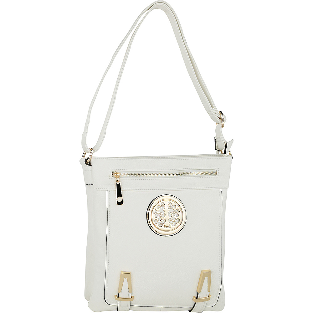 MKF Collection by Mia K. Farrow Lean Crossbody White - MKF Collection by Mia K. Farrow Manmade Handbags - Handbags, Manmade Handbags