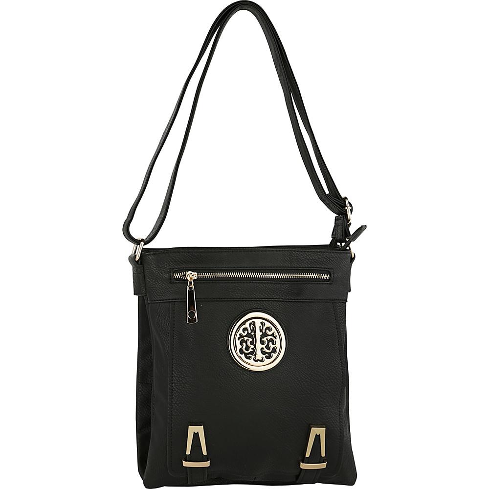 MKF Collection by Mia K. Farrow Lean Crossbody Black - MKF Collection by Mia K. Farrow Manmade Handbags - Handbags, Manmade Handbags