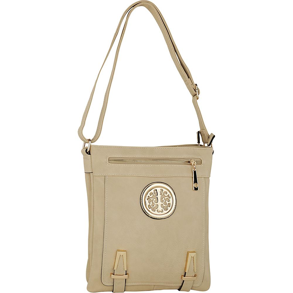 MKF Collection by Mia K. Farrow Lean Crossbody Beige - MKF Collection by Mia K. Farrow Manmade Handbags - Handbags, Manmade Handbags