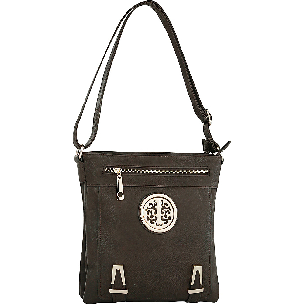 MKF Collection Lean Crossbody Coffee - MKF Collection Manmade Handbags - Handbags, Manmade Handbags