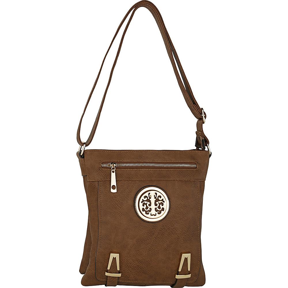 MKF Collection by Mia K. Farrow Lean Crossbody Khaki - MKF Collection by Mia K. Farrow Manmade Handbags - Handbags, Manmade Handbags