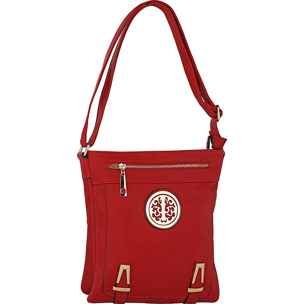 MKF Collection Lean Crossbody Red - MKF Collection Manmade Handbags - Handbags, Manmade Handbags