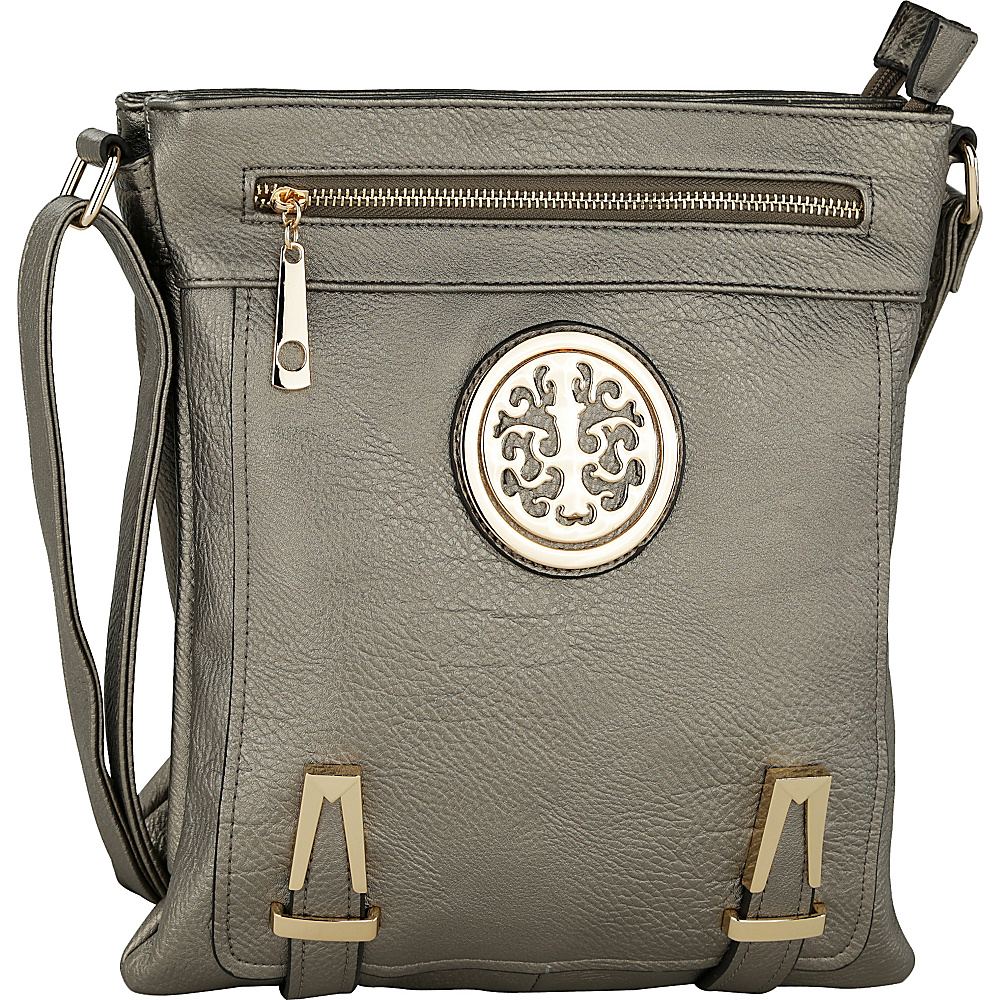 MKF Collection Lean Crossbody Pewter (Silver) - MKF Collection Manmade Handbags - Handbags, Manmade Handbags