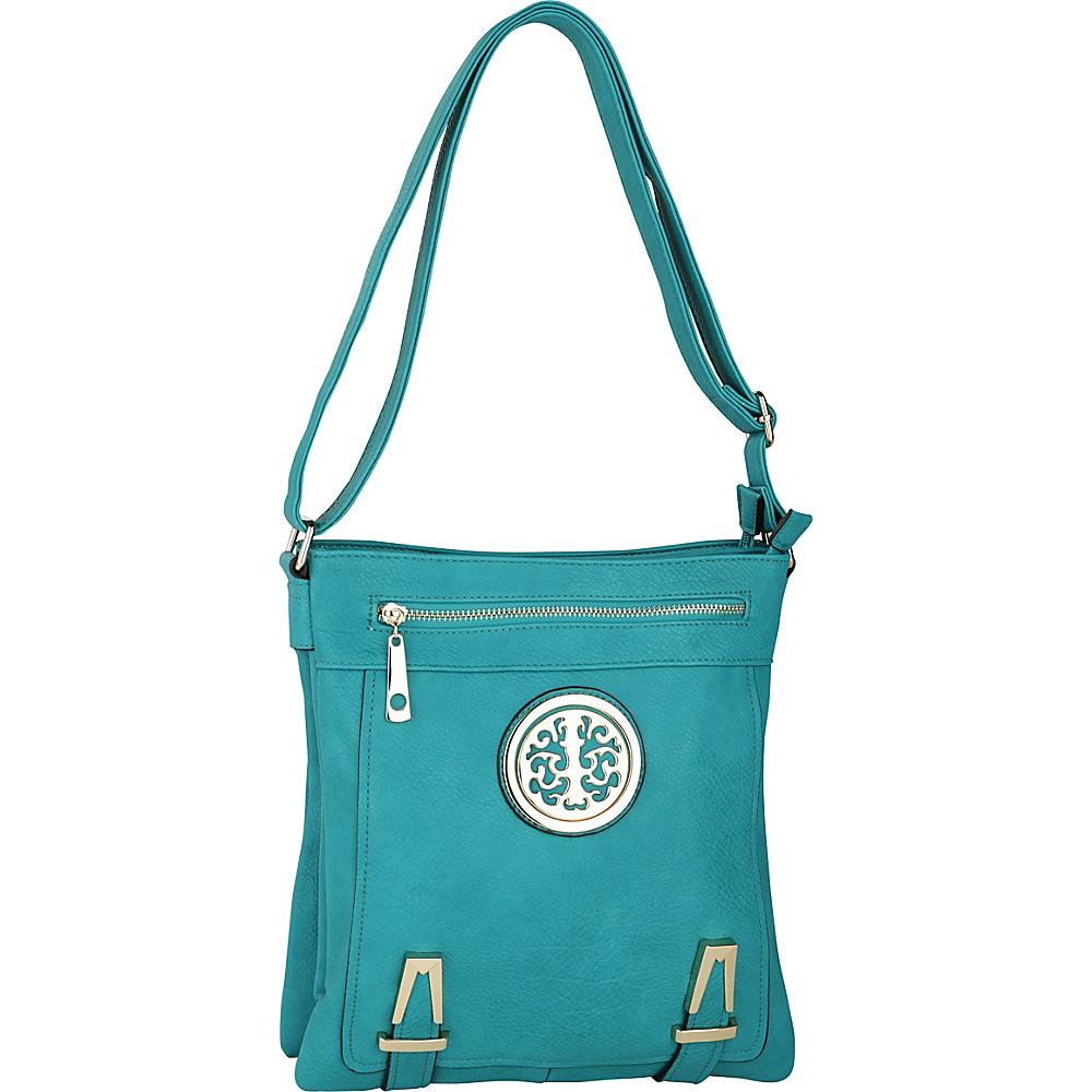 MKF Collection by Mia K. Farrow Lean Crossbody Turquoise - MKF Collection by Mia K. Farrow Manmade Handbags - Handbags, Manmade Handbags